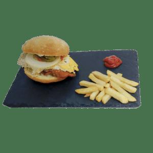 Hamburguesa de pollo a domicilio clásica - Tia Tota - Hamburguesas a domicilio en Murcia