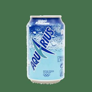 Lata de Aquarius sabor limón