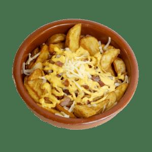 Patatas fritas con queso cheddar a domicilio en Alhama de Murcia | TIA TOTA | Comida a domicilio