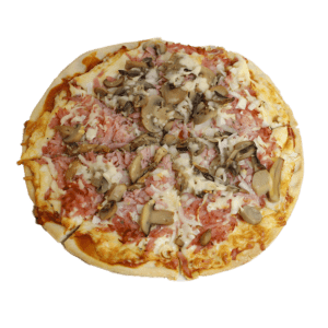 Pizza de jamón york y champiñones - TIA TOTA - Pizzerias en Alhama de Murcia
