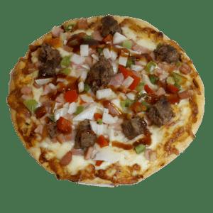 "Pizza de hamburguesa ""La de Andrés"" - TIA TOTA - Pizzerias a domicilio en Alhama de Murcia"